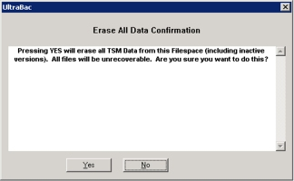 Figure 2 - Erase All Data Confirmation